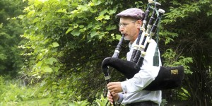 Bagpiper at the Acadia School of Traditional Music and Arts